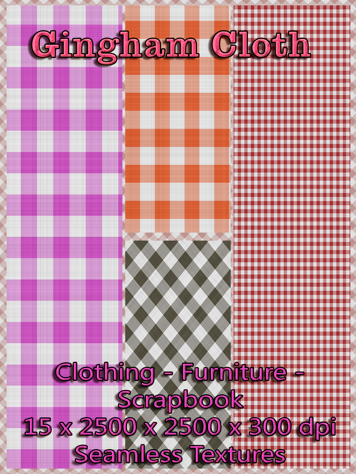 15 Seamless Gingham Cloth Textures - Merchant Resource
