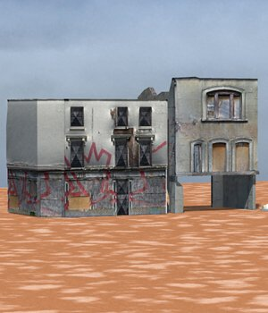 Urban Decay: Buildings Set 2 (for Poser) 3D Models VanishingPoint