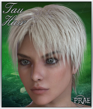 Tau Hair For V4/M4 3D Figure Assets prae