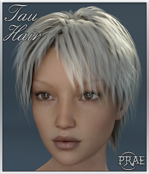 Tau Hair For Genesis 3 3D Figure Essentials prae
