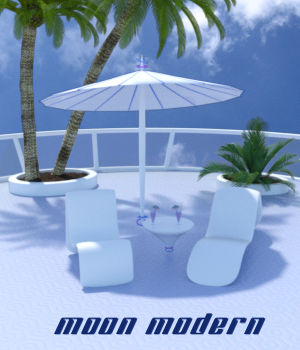 Moon Modern Patio Set  3D Models dhouck
