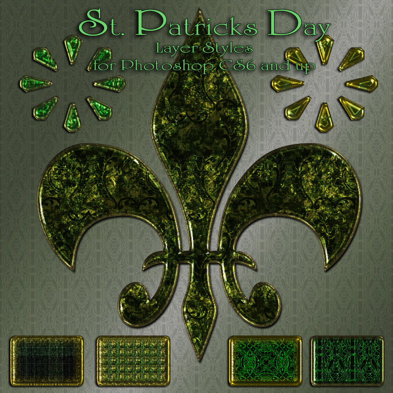 St. Patrick's Day Photoshop & GIMP Brushes | Obsidian Dawn
