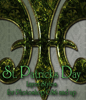 St Patrick's Day Photoshop Styles  2D Merchant Resources antje