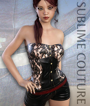 Sublime Couture: Overall for Genesis 3 Female(s) 3D Figure Assets 3DSublimeProductions
