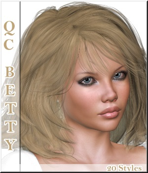 Quick-Click Betty-Hair 3D Figure Essentials LUNA3D