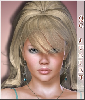 Quick-Click-Juliet-Hair 3D Figure Essentials LUNA3D