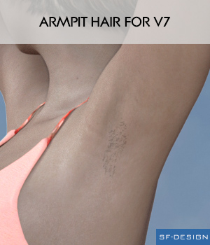 Armpit Hair for V7 3D Figure Assets SF-Design