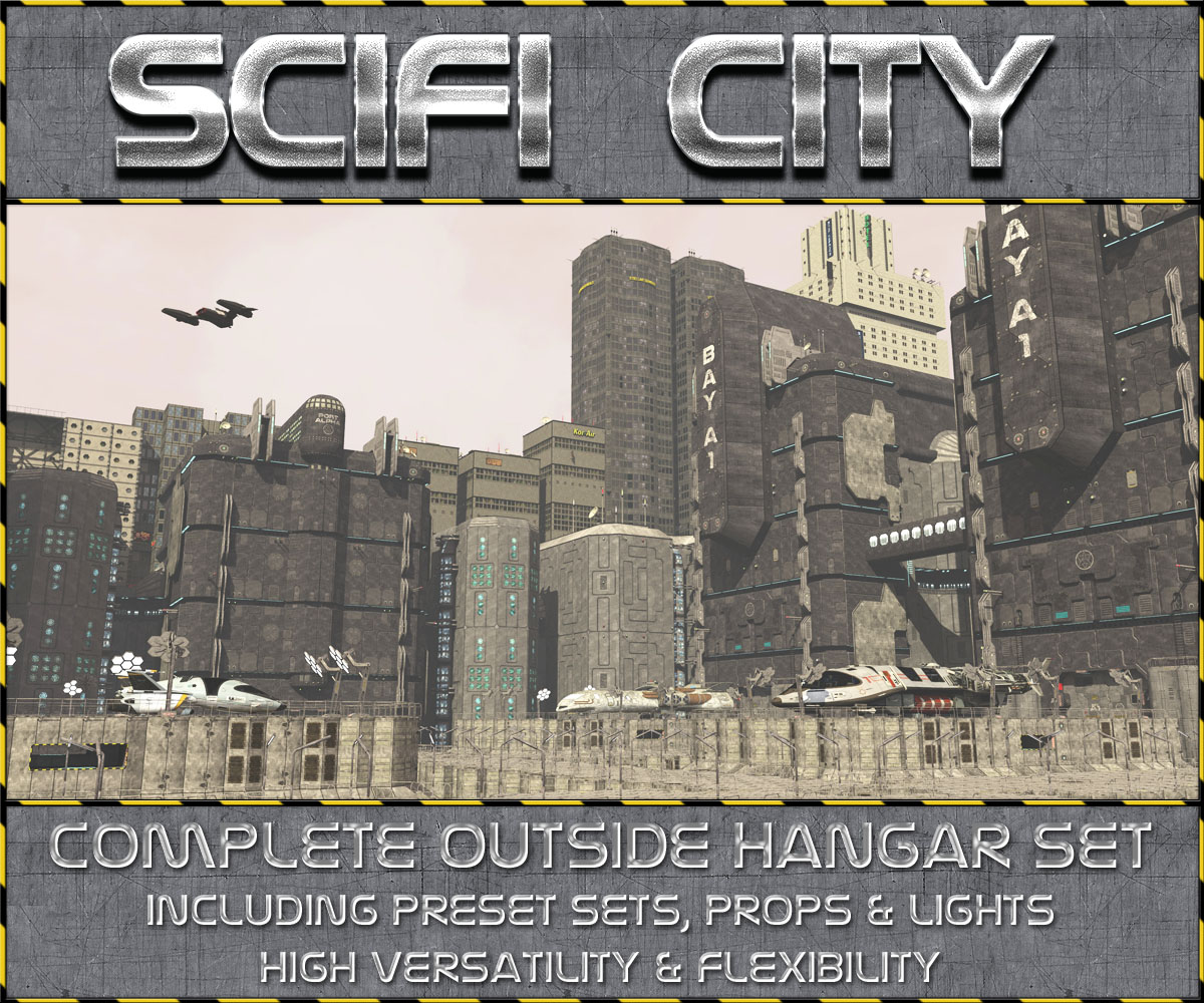 Scifi City Hangar Bay