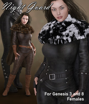 Night Guard for Genesis 3 Females 3D Figure Assets RPublishing