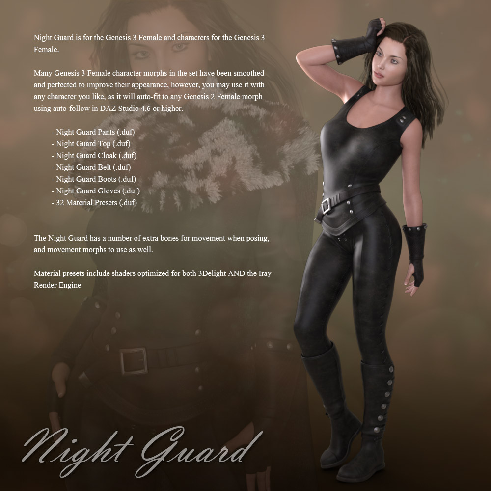 Night guard for genesis 3 females 3d figure assets 3d models night guard for genesis 3 females 3d figure assets 3d models rpublishing sciox Choice Image