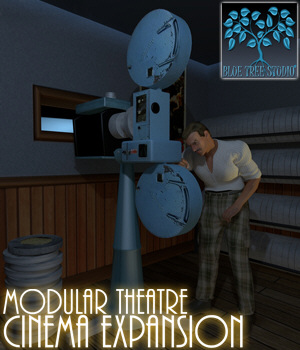 Modular Theatre Cinema Expansion 3D Models BlueTreeStudio