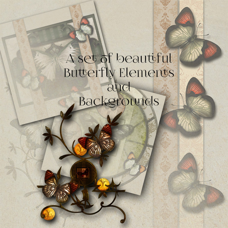 Butterfly Elements and Backgrounds