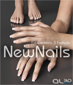 Al3d's NewNails for G3F 3D Figure Assets _Al3d_