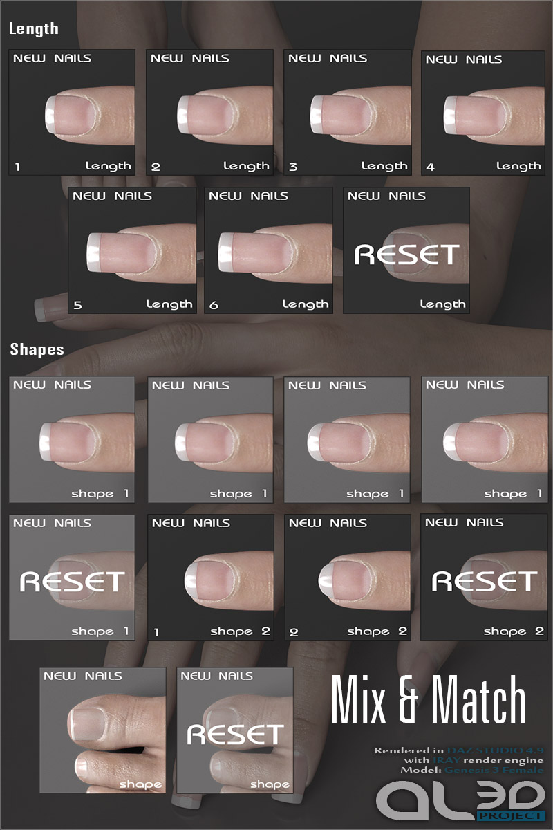 Al3d\'s NewNails for G3F 3D Figure Assets _Al3d_