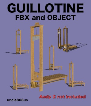 Guillotine FBX and OBJ extended license  3D Models uncle808us