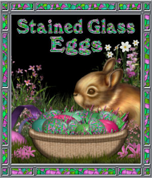Stained Glass Mosaic Eggs 2D Merchant Resources fractalartist01