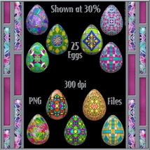 Stained Glass Mosaic Eggs image 1