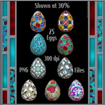 Stained Glass Mosaic Eggs image 2