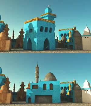 Nubian Village Worship Places 3D Models giko