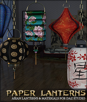 SV's Asian Paper Lanterns DS 3D Models Sveva