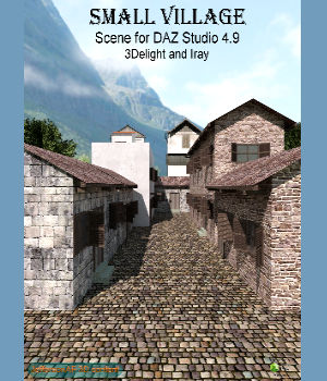 Small village DAZ 3D Models JeffersonAF
