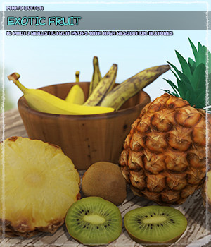 Photo Buffet: Exotic Fruit - Extended License 3D Models Extended Licenses ShaaraMuse3D