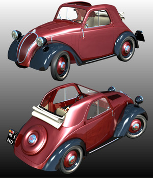 FIAT TOPOLINO ( POSER and .OBJ ) 3D Models Nationale7