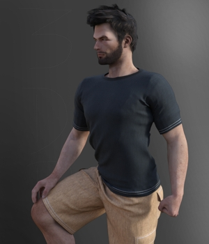 Male Dynamic Casual 3D Figure Assets threedplayer