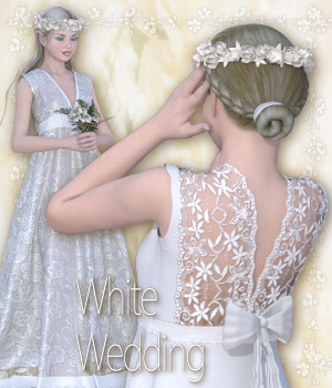 White Wedding 3D Figure Assets Tipol