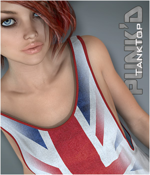 Punk'd - TankTop V7 3D Figure Essentials P3D-Art