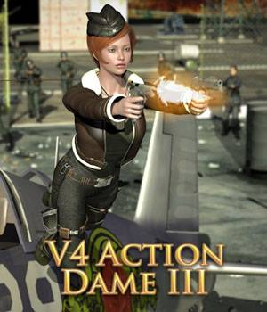 Action Dame III for V4 3D Figure Assets theKageRyu