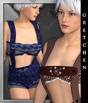 Gretchen for Sexy Lederhosen 3D Figure Essentials sandra_bonello