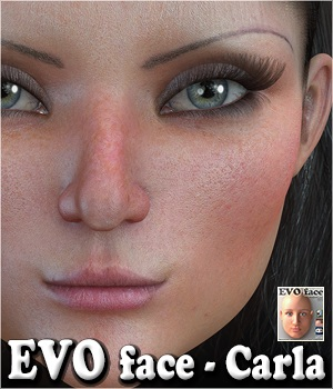 EVO face - Carla 3D Figure Assets 3Dream