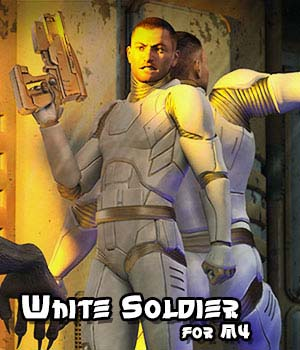 White Soldier for M4 3D Figure Assets JerryJang