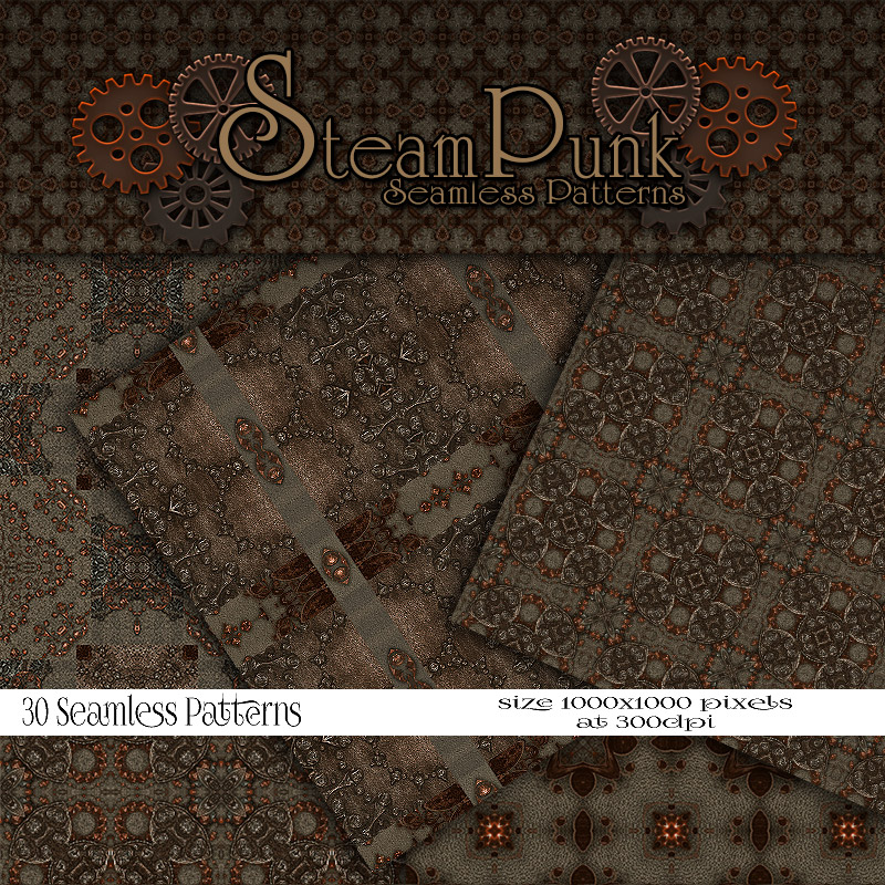 Merchant Resource - Steampunk Patterns 4 by antje