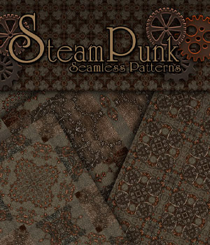 Merchant Resource - Steampunk Patterns 4 2D Graphics Merchant Resources antje