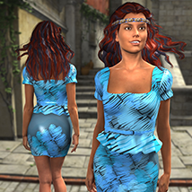 Cardozo Textures for G2F Peplum Dress and Blossom Shoes image 3