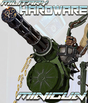 Military Hardware - The Minigun 3D Models Cybertenko