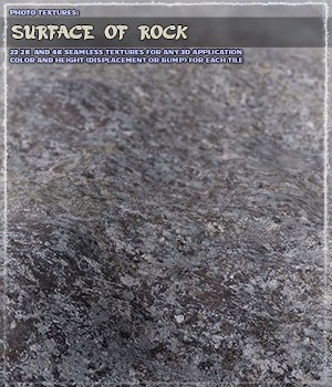 Photo Textures: Surface of Rock 2D Graphics Merchant Resources ShaaraMuse3D