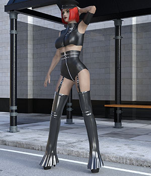 Baroness outfit for G3F 3D Figure Essentials Ishbo