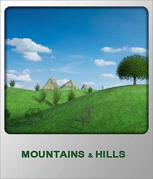 Mountains and Hills 01 3D Models whitemagus