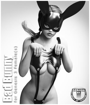 Bad Bunny for Genesis 3 Female(s) 3D Figure Assets outoftouch