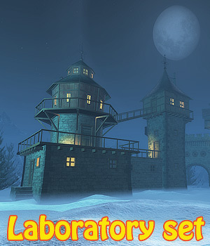 Laboratory set 3D Models 1971s