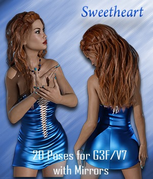 Sweetheart Poses for G3F/V7 3D Figure Assets vanda51