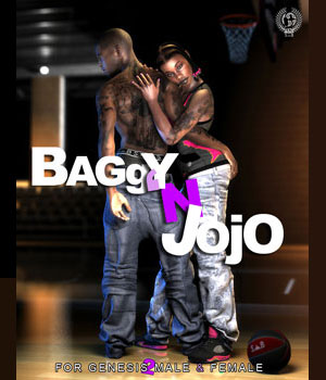 BAGGY 'N JOJO PACK for Genesis 2 Males & Females 3D Figure Assets samsil