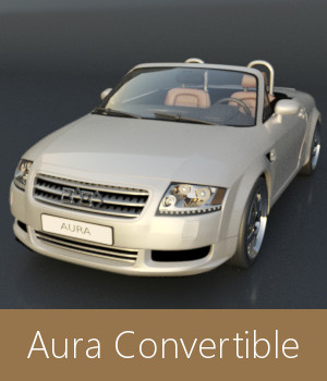 Aura Convertible 3D Models TruForm