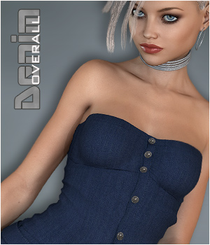 Denim - Overall G3 3D Figure Assets P3D-Art