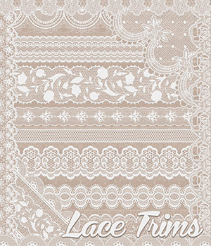 Lace Trims 2D Graphics Merchant Resources Atenais