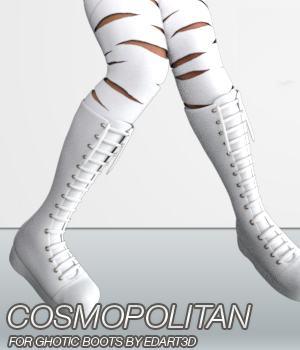 COSMOPOLITAN - Gothic Boots for G3F & Mangastic Satsuki  3D Figure Essentials Anagord