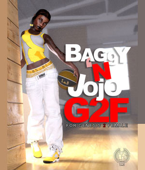 BAGGY 'N JOJO G2F for Genesis 2 Female(s) 3D Figure Assets samsil